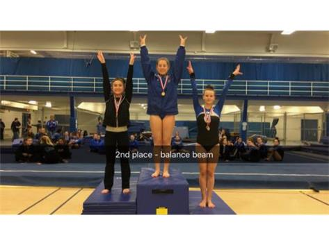 Afroditi Baltsas - 2nd Place, Balance Beam at Wheeling Invitational