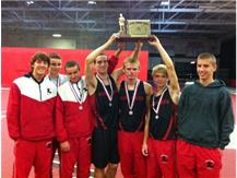 Maine South Varsity Boys Win CSL-South and CSL Championship Meet