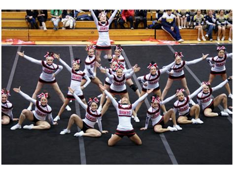 Maine South Cheerleaders Qualify for State!