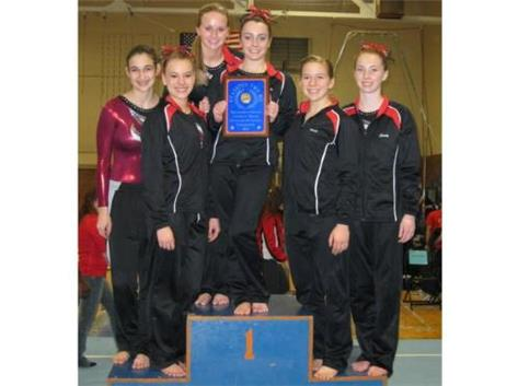 Gymnasts won the Evanston Invite and placed 2nd in the Maine West Invite over break.