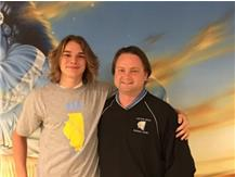 State Qualifier in Boys Diving.  Congrats Devin and Coach Tuntland!