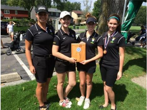 Girls Varsity Golf Team *2nd Place @ Willowbrook Invitational