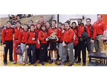 Marist Varsity Wrestling Team with First Place trophy from Dvorak Tournament in December 2013