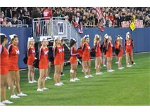 Cheer squad at Soldier Field