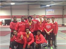 Boys Track Team after finishing in 2nd Place out of 20 teams at the ICOPS Meet at Lewis University on February 28, 2016