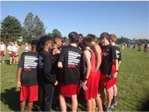 Pre race prayer at Lyons Township Invite 2016