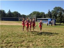 Team warm-ups at Lyons Invite 2016