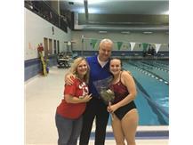 Leah Hood and parents celebrate Senior Night 2016