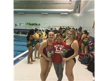 Ellen and Leah with Coach Sullivan Senior Night 2016