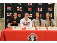 Claire Austin, Caily Landers, Julia and Kate sign letters of intent