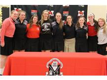 Maddie and teammates on National Signing Day. Maddie will attend Lehigh University to continue her academic and volleyball career.