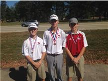 ESCC Golf Medalists Nick Coccaro (JV-8th-85, George Paetow (Varsity-12th-79)and  Ben Reidy (8th-85)represented Marist at the ESCC Championships. The varsity placed 8th and the JV placed 4th.