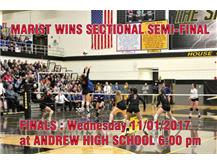 Girls Volleyball defeats Lincoln-Way East in the Semi-Final October 30, 2017