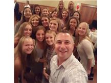 2017 Coach Roe and team Banquet selfie