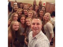 2017 Coach Roe and team Banquet selfie