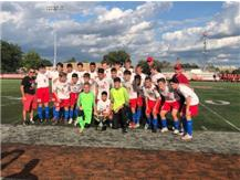 Varsity soccer after overtime shootout victory over Brother Rice September 7, 2019 to win Pulaski Cup