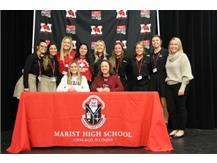 Softball team joins NLI signees Mia Crotty, Wisconsin, Oshkosh; and Brianna Brown, University of Pennsylvania as they sign NLI to continue their softball careers in college. November 13, 2019