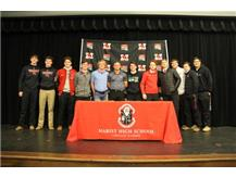 Baseball Teammates join NLI signees November 13, 2019. Brett Freiberg (Rock Valley Junior College), Dane Thomas (Wright State University) and Will O'Boyle (North central College)