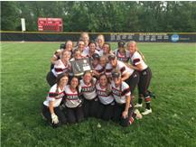 Softball is 2019 IHSA Class 4A Sectional Champions by defeating Riverside-Brookfield 1-0 on May 31, 2019