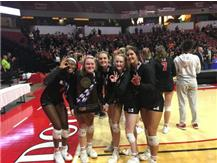 Volleyball Seniors Camryn, Avery, Maddie, Tess, Page and Mairead Boyle (missing) celebrate their third straight trip to   Class 4A State Finals and 3rd Place finish November 16, 2019