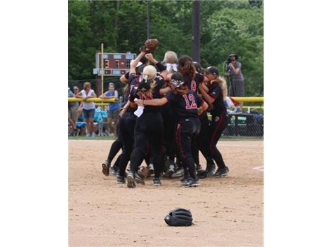 Softball celebrates 2-1 victory over OPRF in State semi-final June 12, 2015