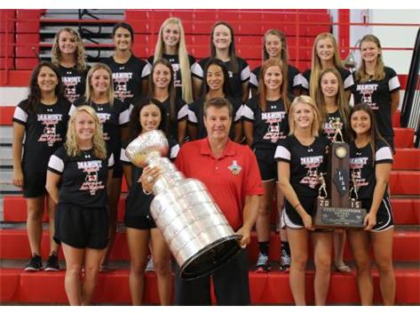 The Stanley Cup and Mike Gapski visit Marist on August 13 and are pictured with State Champion softball team.