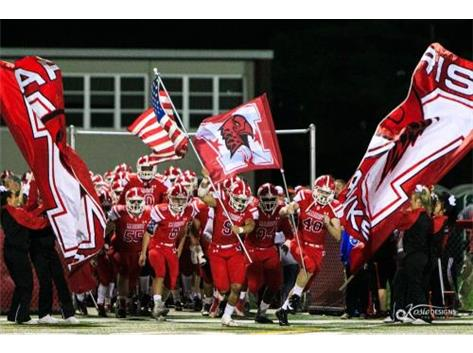 Marist Varsity take the field for Homecoming 45-21victory over St. Patrick