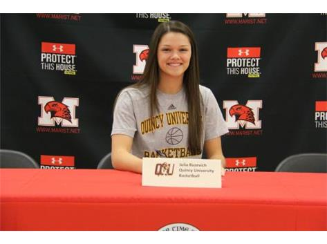 Julia Ruzevich signs LOI with Quincy