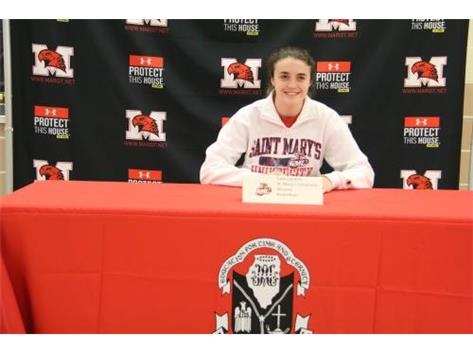 Caily Landers signs LOI with St. Mary's