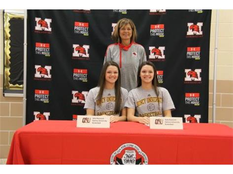 Kate and Julia Ruzevich sign LOI to play basketball at Quincy