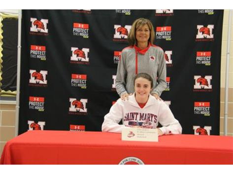 Caily Landers with Coach Connolly on NSD