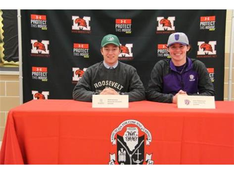 Matt Donahue (Roosevelt)and Colin Pfotenhauer (Taylor) on National Signing Day, November 9, 2016