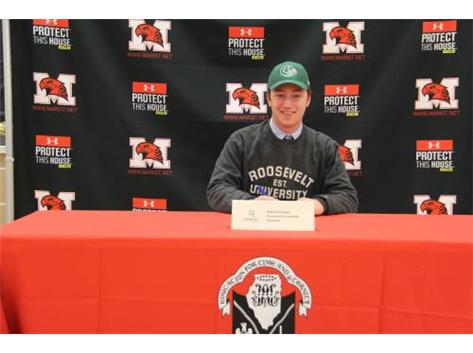 matt Donahue signs LOI to Play baseball at Roosevelt University