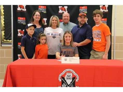 A family affair as Alexis Rogers signs letter of intent to play softball at University Tennessee-Martin.
