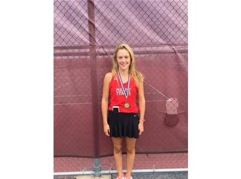 Nicole Micklin finished in 2nd Place at First Doubles at Plainfield North Tournament.