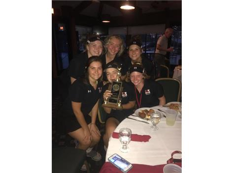 Varsity Golf wins First Place at Caroline Griffin Tournament defeating Mother McAuley and St. Ignatius at Ridge Country Club September 21, 2017