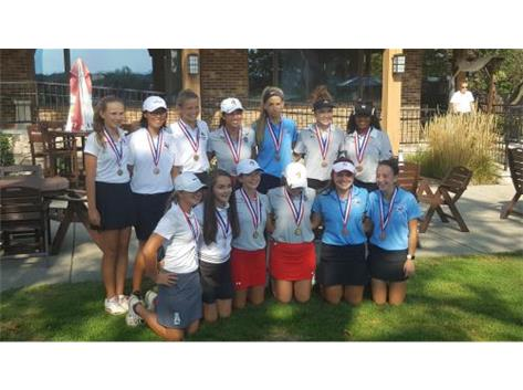 Girls Golf captured 4th Place in the ESCC Meet. Tyler Murray (3rd) and Hunter Guest (11th) were medalists for the RedHawks.