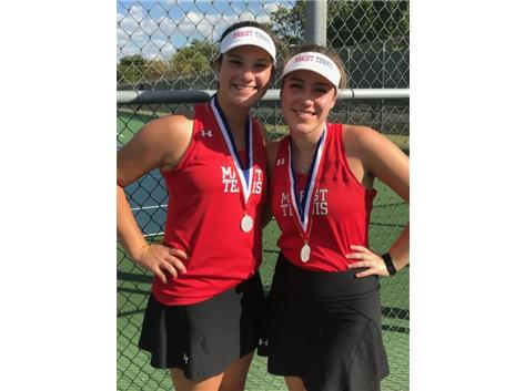 ESCC 2nd Doubles 2nd Place Kaitlyn Meyer and Kat Balchunas