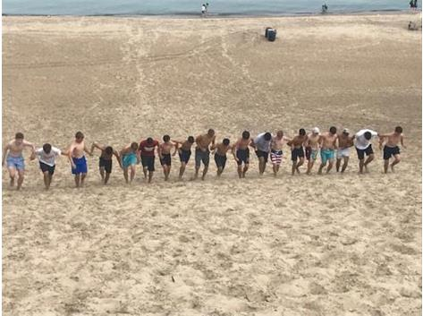 Team building at the Dunes August 2019