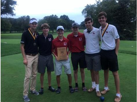 Marist Finished in 1st with a team score of 341 in the Marian Catholic Invitational.  George Paetow was the 2nd place medalist with an 80 and TJ Callahan was the 4th place medalist with an 83.