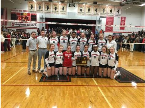 2019 IHSA Class 4A Sectional Champions defeated Mother McAuley 25-21 and 25-13 to win Sectional Championship