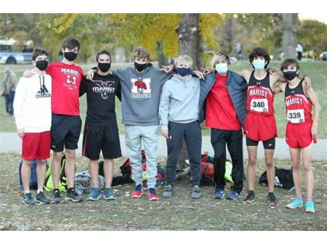 Marist Boys Cross Country Team at 2020 Lincoln Park Sectionals