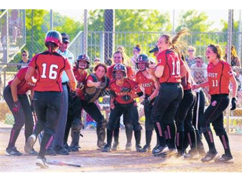 Marist celebrates after Haley Richy's Grand Slam in the State Championship Game!