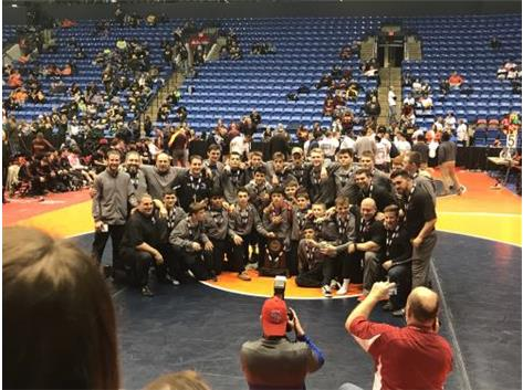 2018-19 Cadet Wrestling team - 3rd place finishers DOWNSTATE!