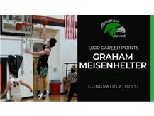 Congratulations Graham Meisenhelter on reaching 1,000 career points!