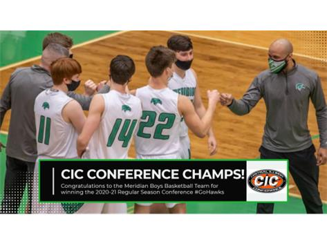 Congratulations Boys for winning the CIC regular season title with a 7-0 record in conference play! #WeAreMeridian