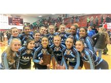 Competitive Cheer Team places 3rd at Bradley-Bourbonnais Invite