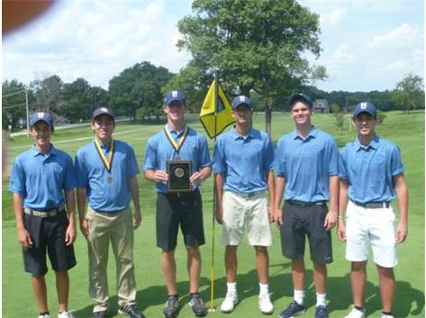 2nd Place Team at St. Laurence Boys Golf Invite