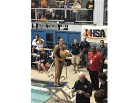 Eva Kelly - 7th in State in diving !!