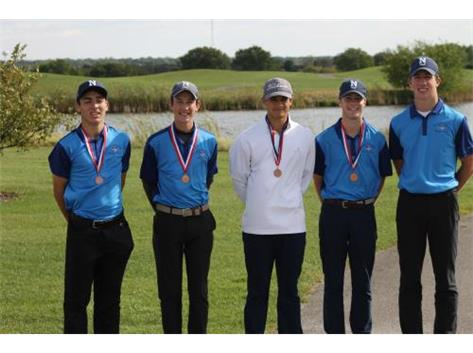 Boys Varsity Golf-3rd Place ESCC Tournament